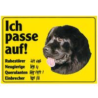 """Warnschild: """"Ich passe auf!"""" Inkl. Aufkleber"""