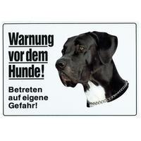 Warnung vor dem Hunde, groß, Dogge, schwarz