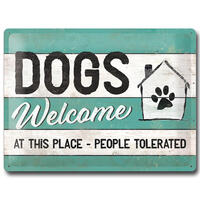 Nostalgic-Art Schild DOGS Welcome