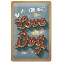 Nostalgic-Art Schild ´´Love Dog´´