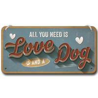 Nostalgic-Art Hängeschild ´´Love Dog´´