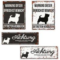 Warnschild Terrier