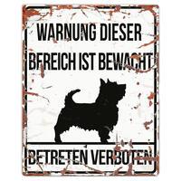 Warnschild ´´Terrier´´