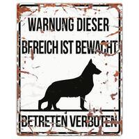 Warnschild ´´Schäferhund´´