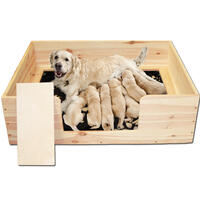 Welpen-Wurfbox - 140x120x40 cm (Hundetransportartikel, Hundegitter, Hundebox, Hundetransportbox)