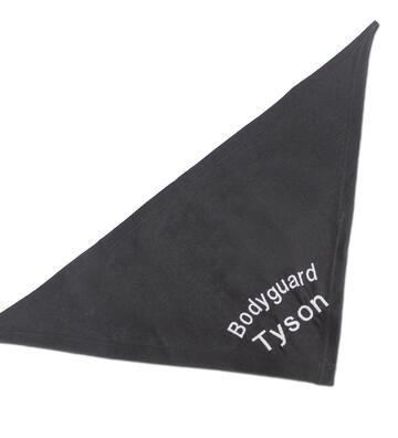 Besticktes Halstuch, Farbe: Schwarz, verschiedene Designs + Name