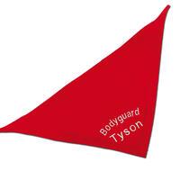 Besticktes Halstuch, Farbe: Rot, verschiedene Designs
