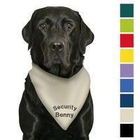 Besticktes Halstuch Security + Name