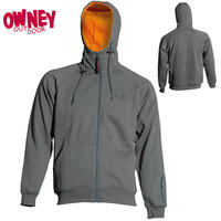 OWNEY Unisex-Kapuzensweat Hoody 14, anthracite-orange
