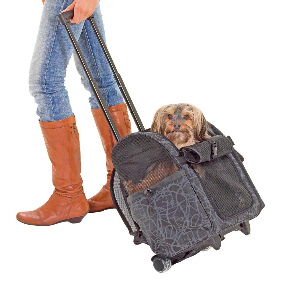combi hunde trolly l bis 15 kg hundetasche tragetasche f r hunde rucksack ebay. Black Bedroom Furniture Sets. Home Design Ideas